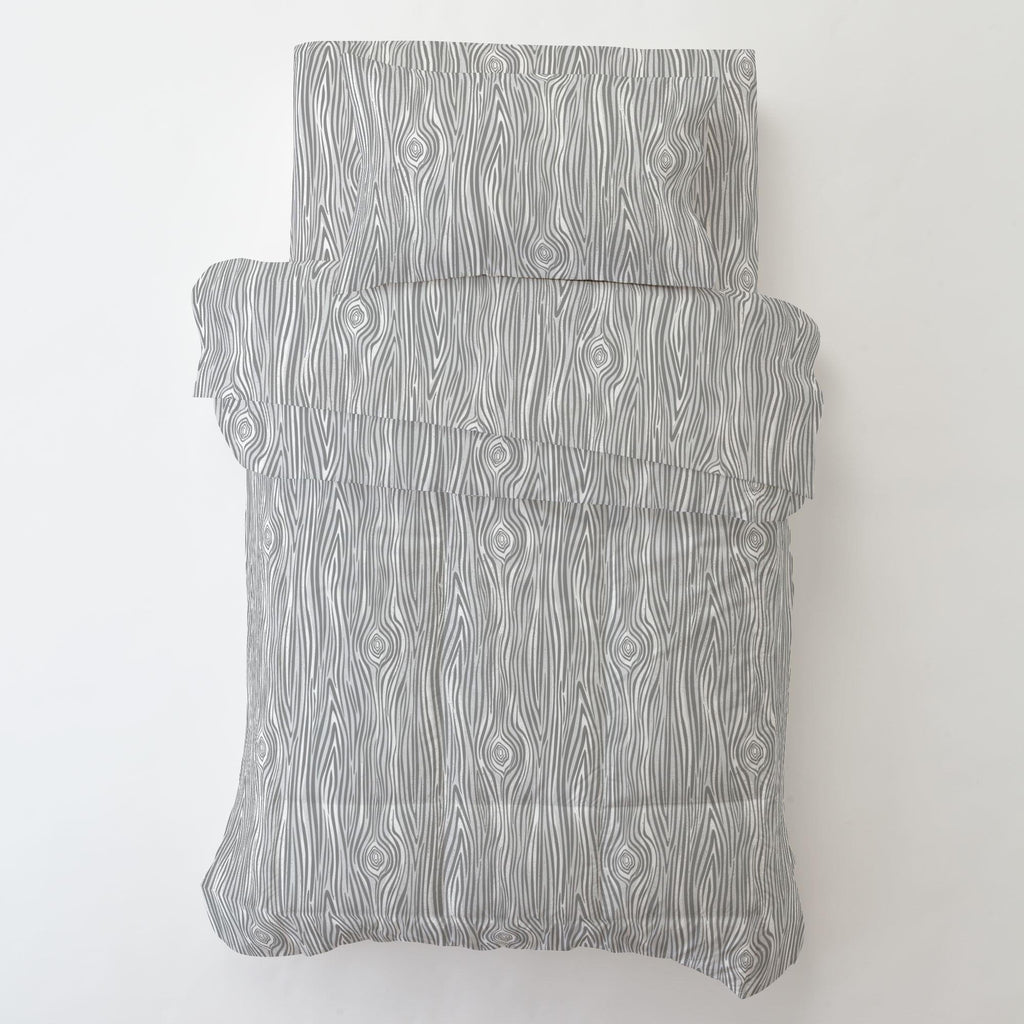 Product image for Gray Woodgrain Toddler Pillow Case