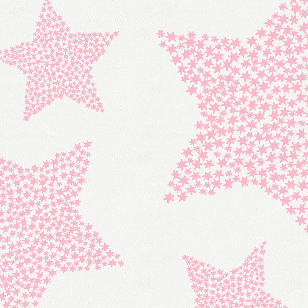 Product image for Bubblegum Galaxy Stars Crib Skirt Gathered