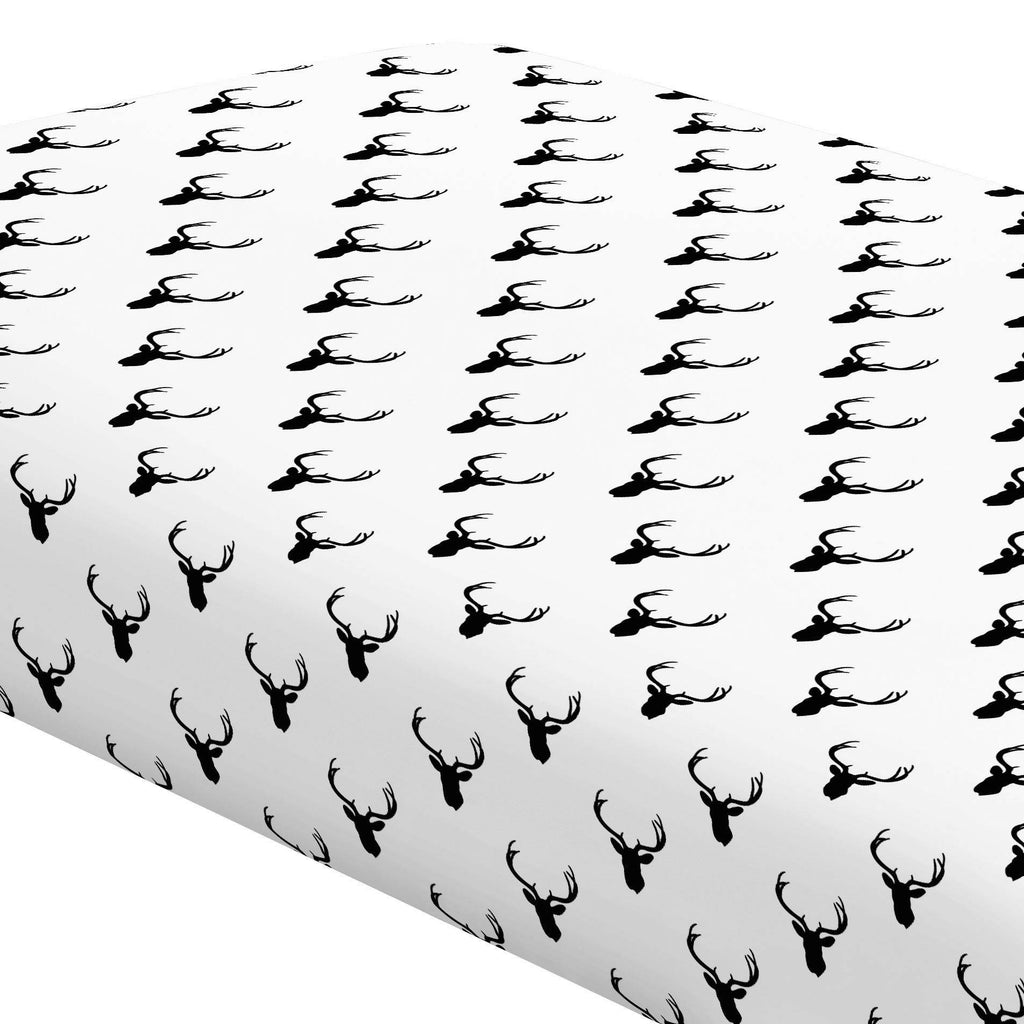 Product image for Onyx Deer Silhouette Crib Sheet