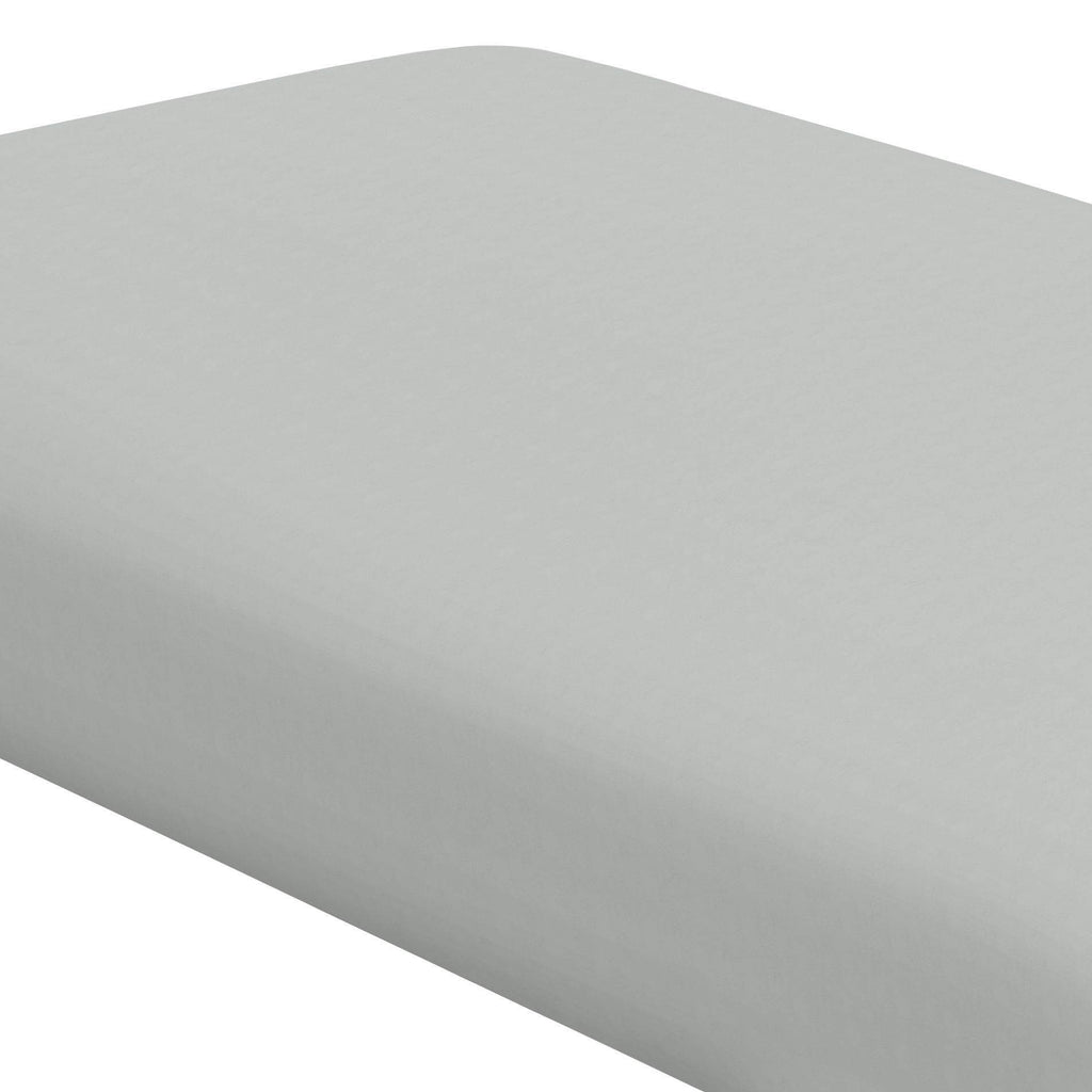 Product image for Silver Gray Minky Crib Sheet