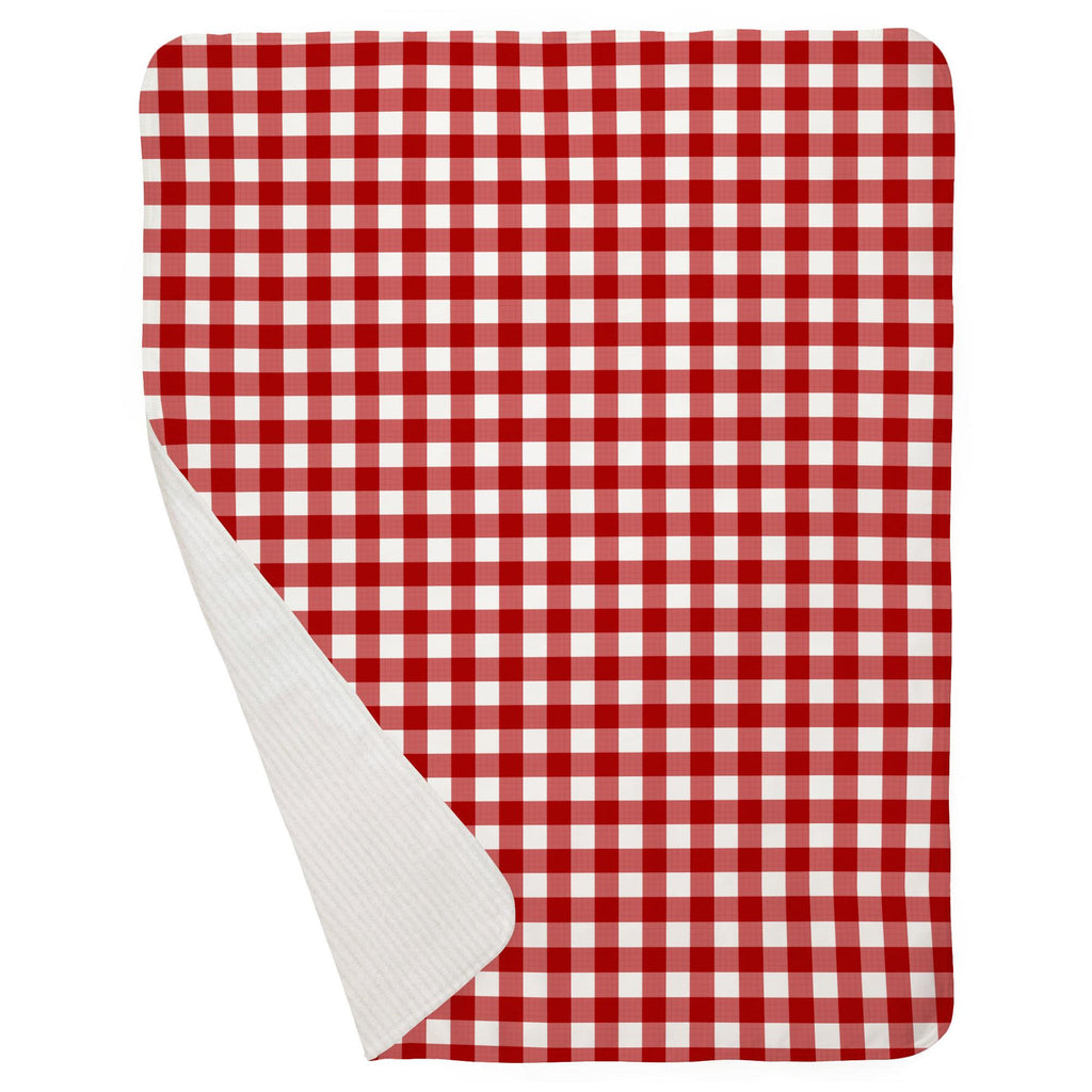 Product image for Red Gingham Baby Blanket