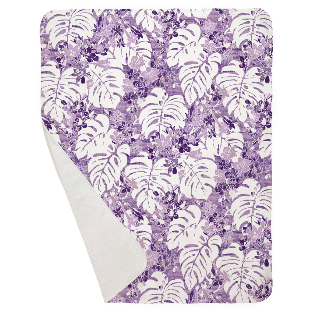 Product image for Purple Tropical Baby Blanket