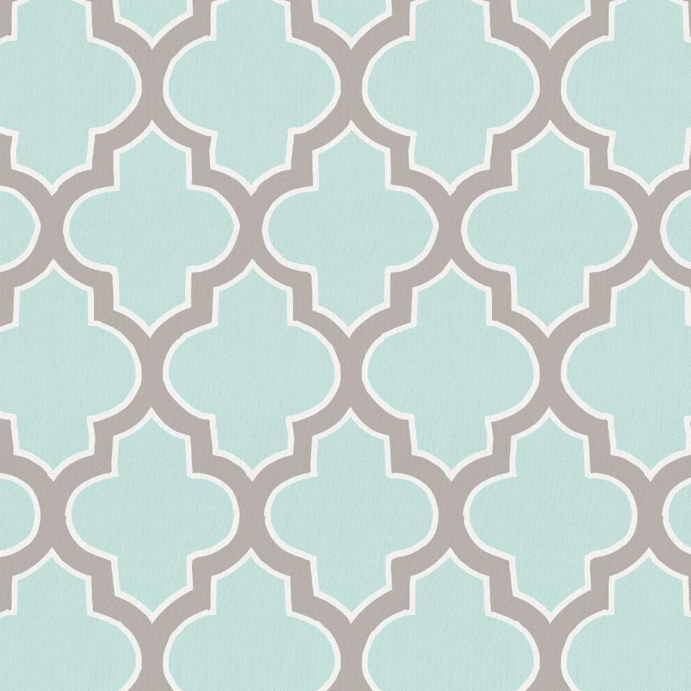 Product image for Mint and Taupe Hand Drawn Quatrefoil Crib Skirt Single-Pleat