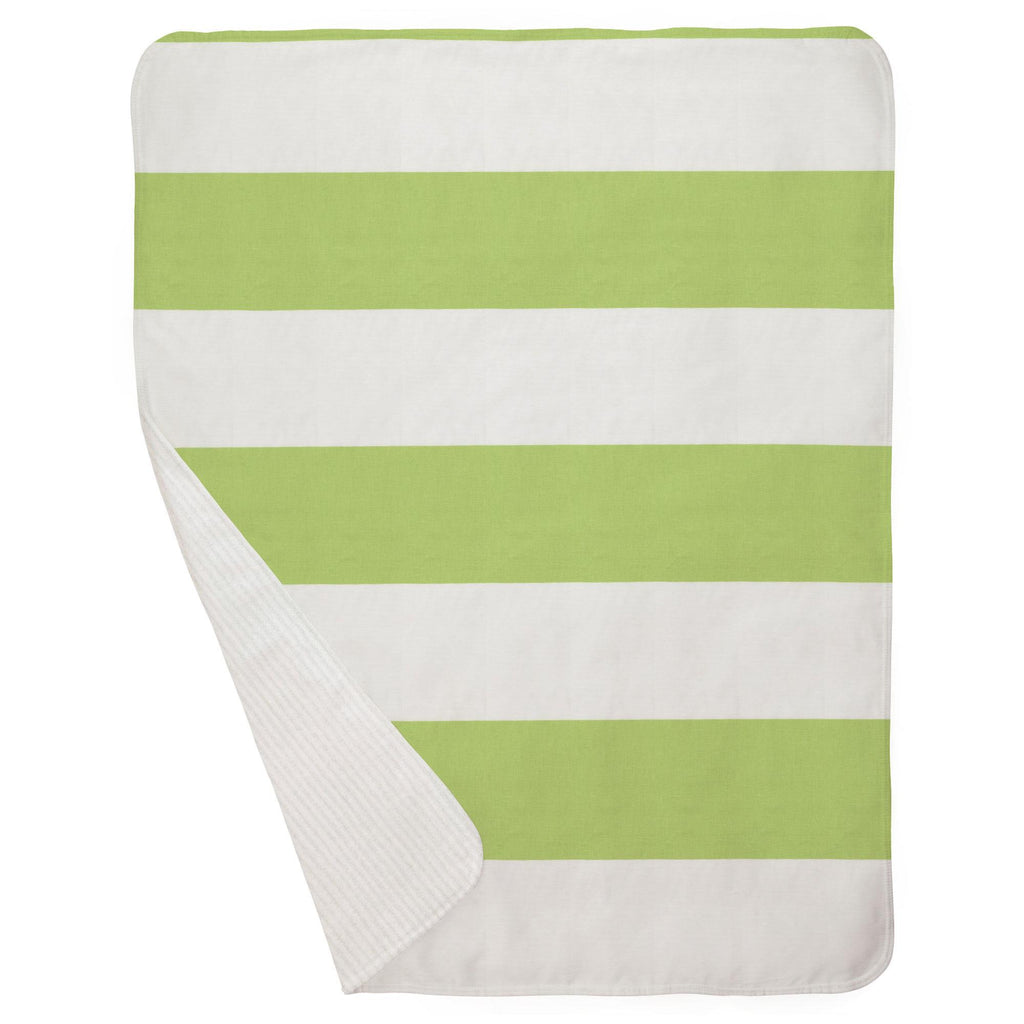 Product image for Kiwi Horizontal Stripe Baby Blanket