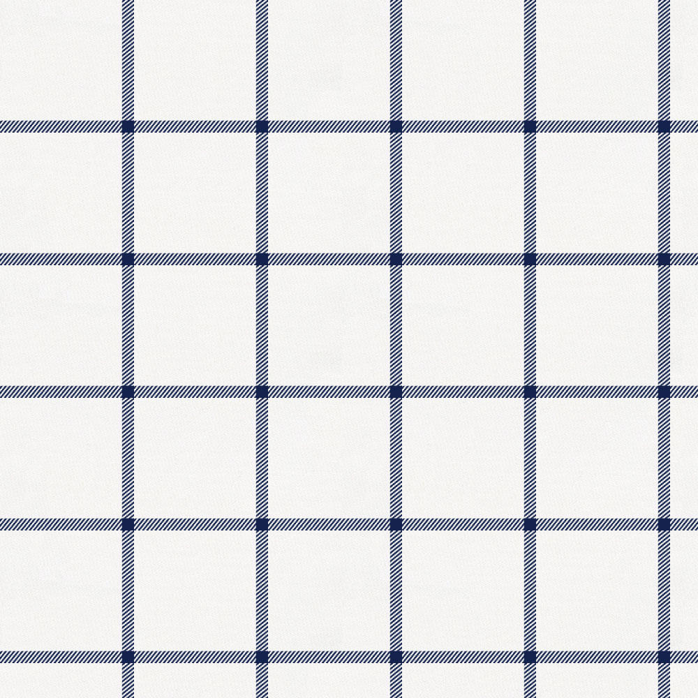 Product image for Navy Windowpane Crib Skirt Gathered