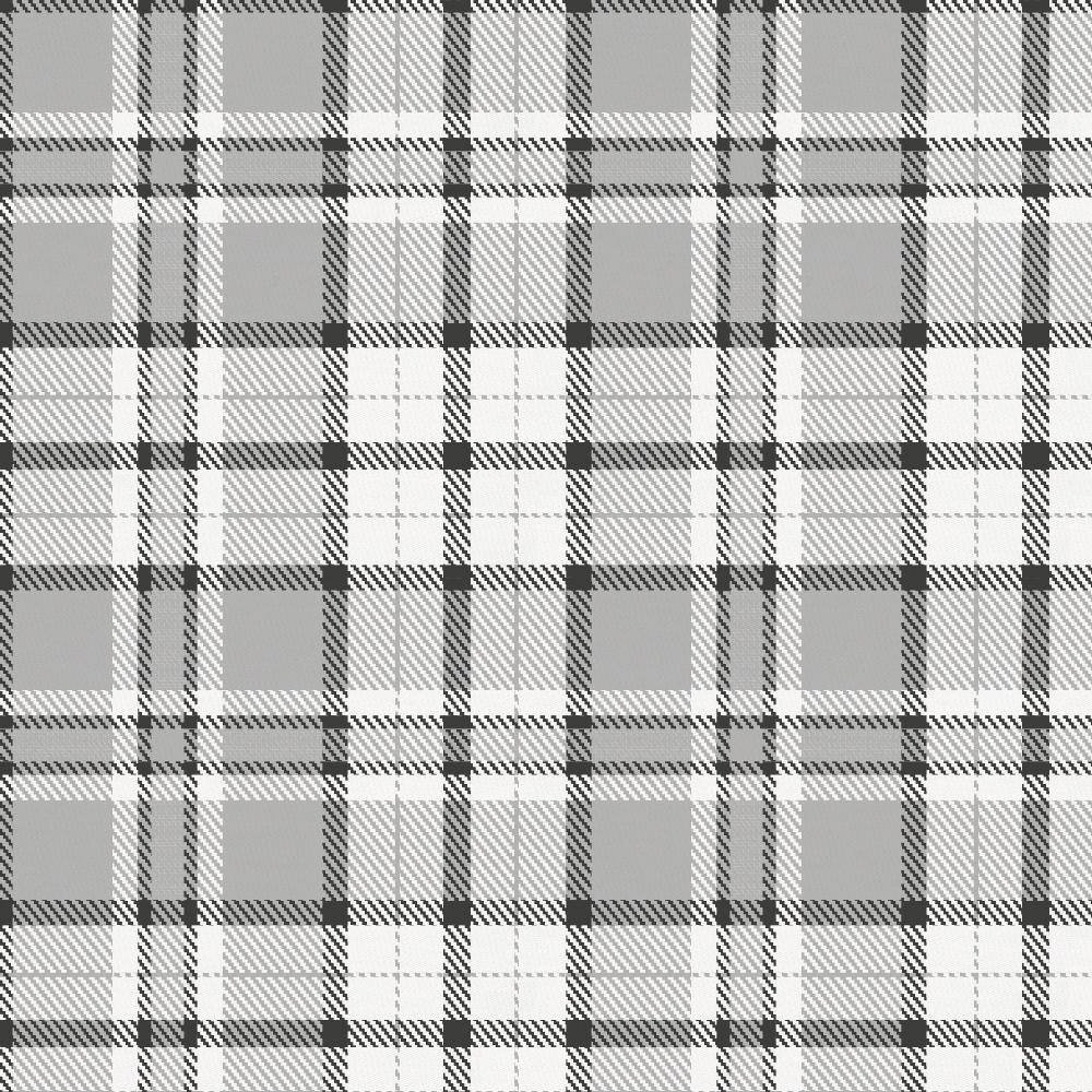 Product image for Gray Plaid Crib Skirt Gathered