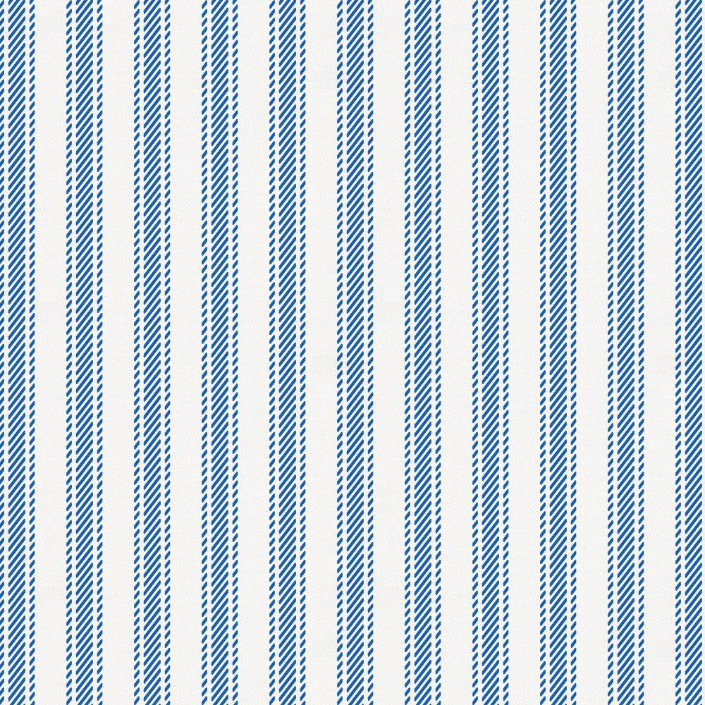 Product image for Ocean Blue Ticking Stripe Crib Skirt Gathered