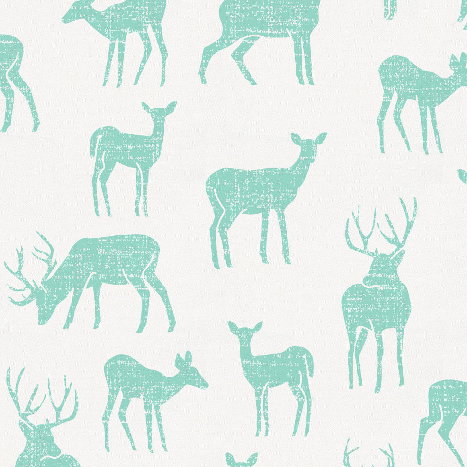Product image for Mint Deer Crib Skirt Single-Pleat