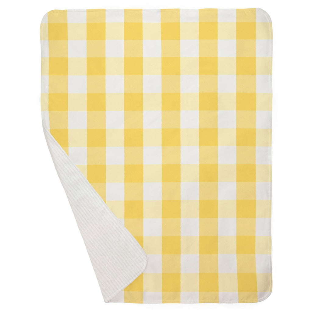 Product image for Saffron Buffalo Check Baby Blanket