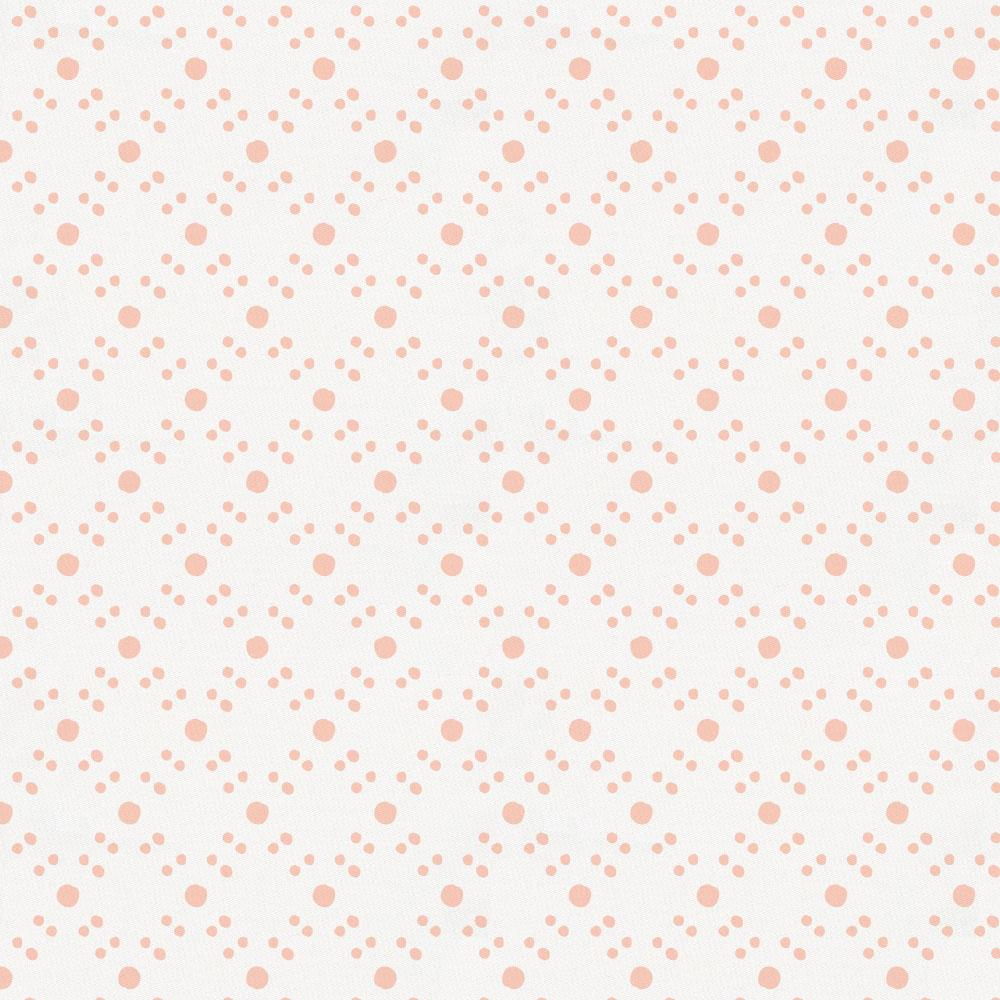 Product image for Peach Lattice Dots Crib Skirt Single-Pleat