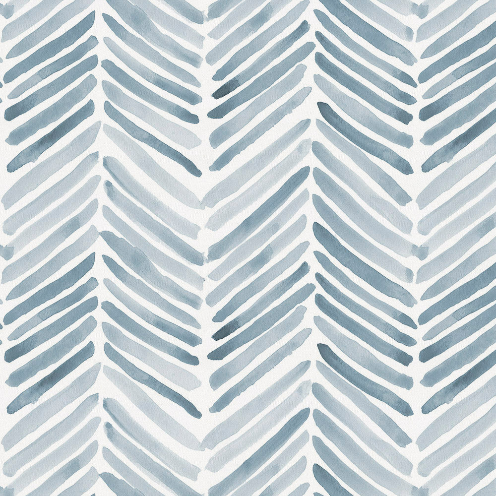 Product image for Steel Blue Painted Chevron Duvet Cover