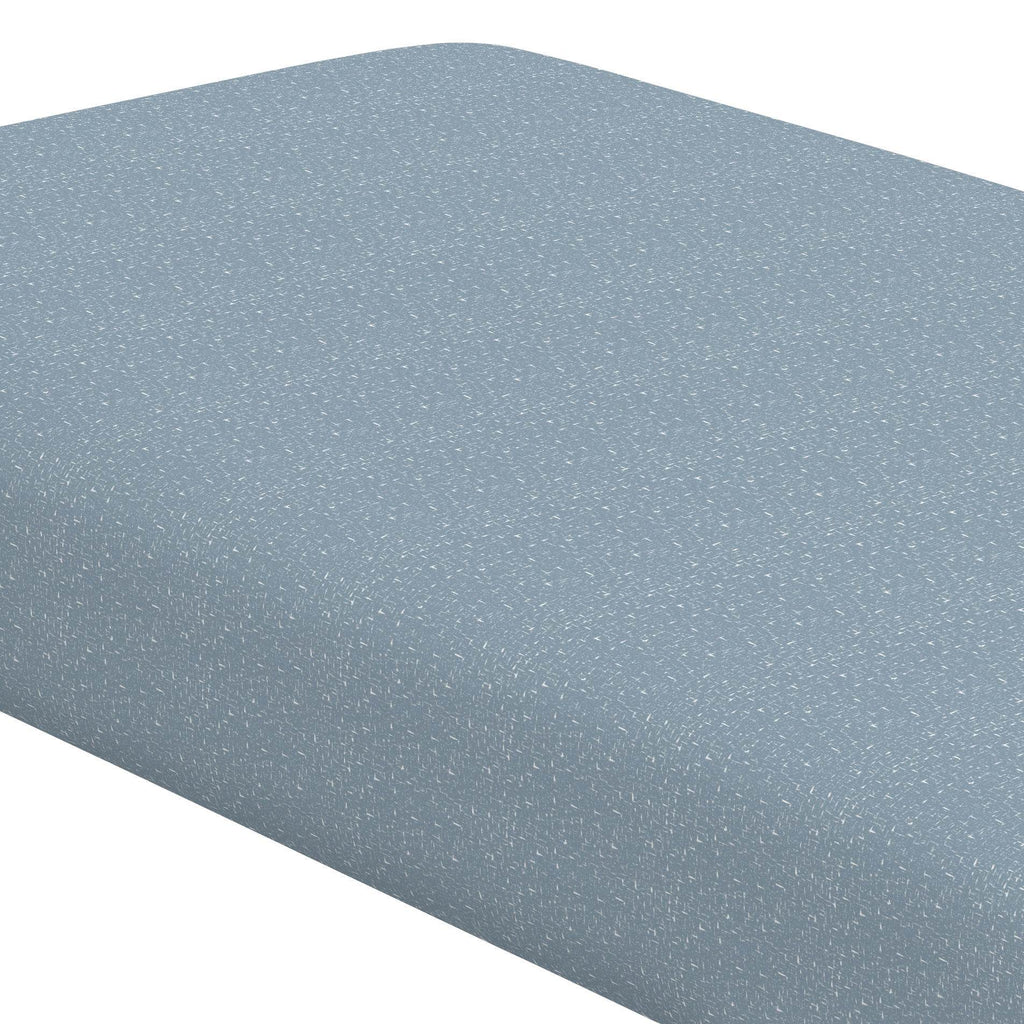 Product image for Steel Blue Heather Crib Sheet
