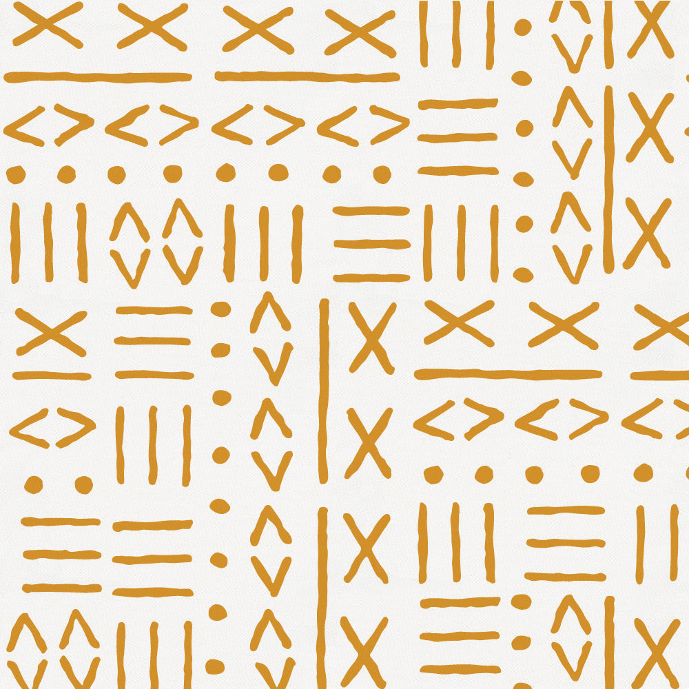 Product image for Mustard Mudcloth Mini Crib Sheet