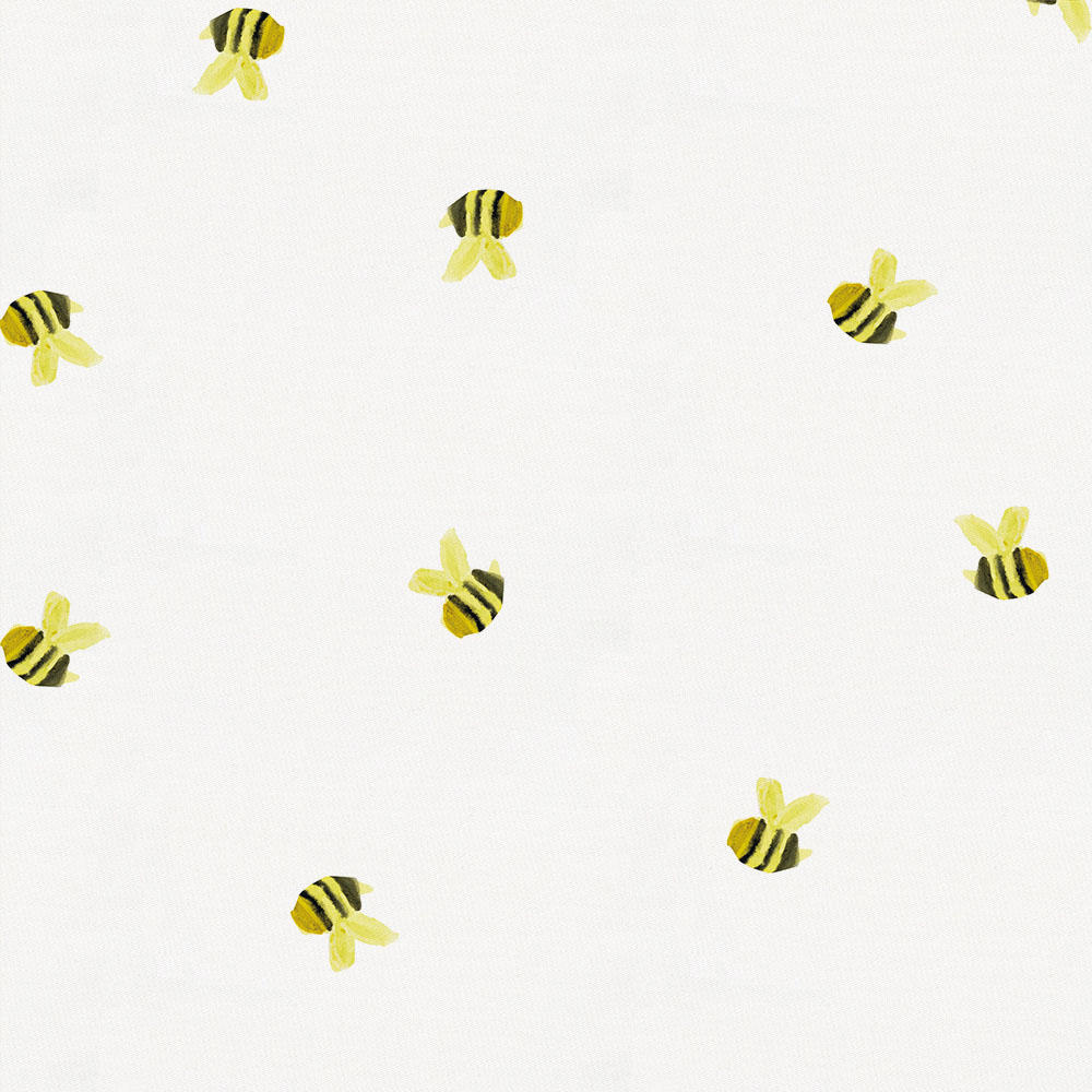 Product image for Watercolor Bees Crib Skirt Gathered