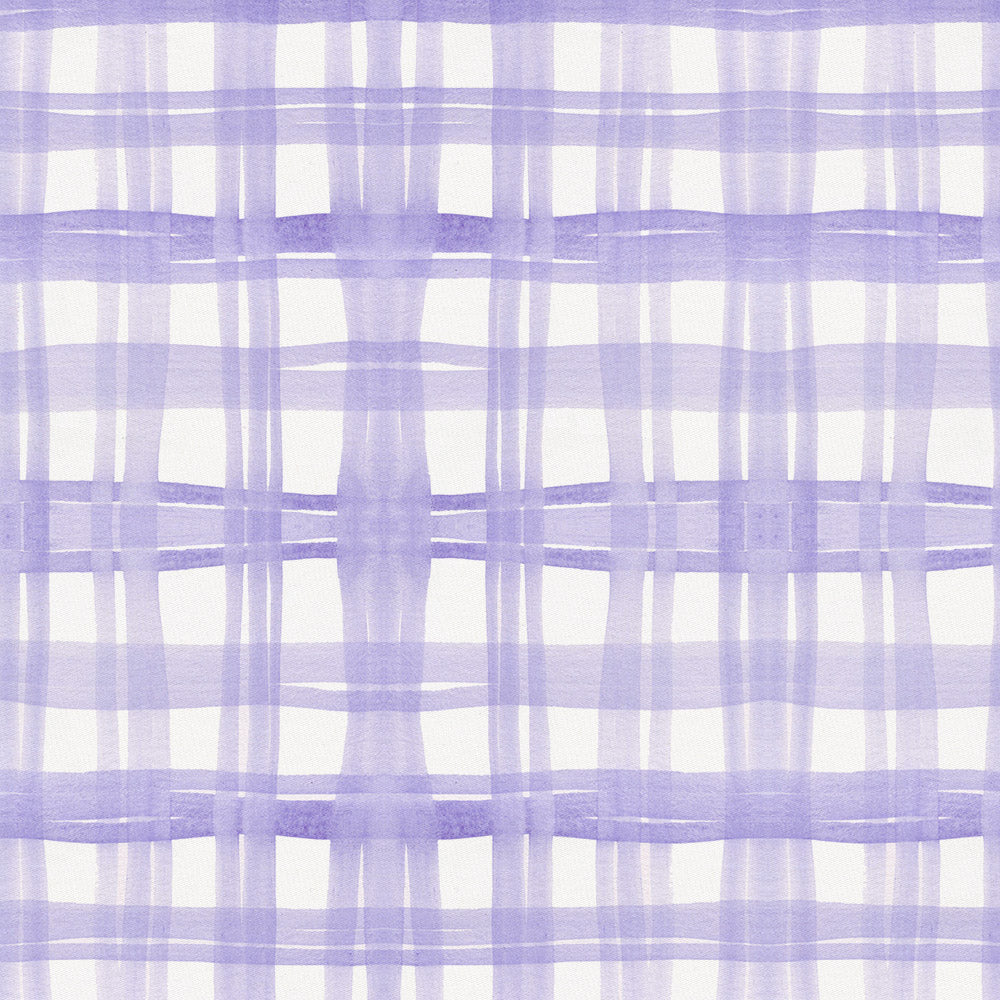 Product image for Lilac Watercolor Plaid Crib Skirt Single-Pleat
