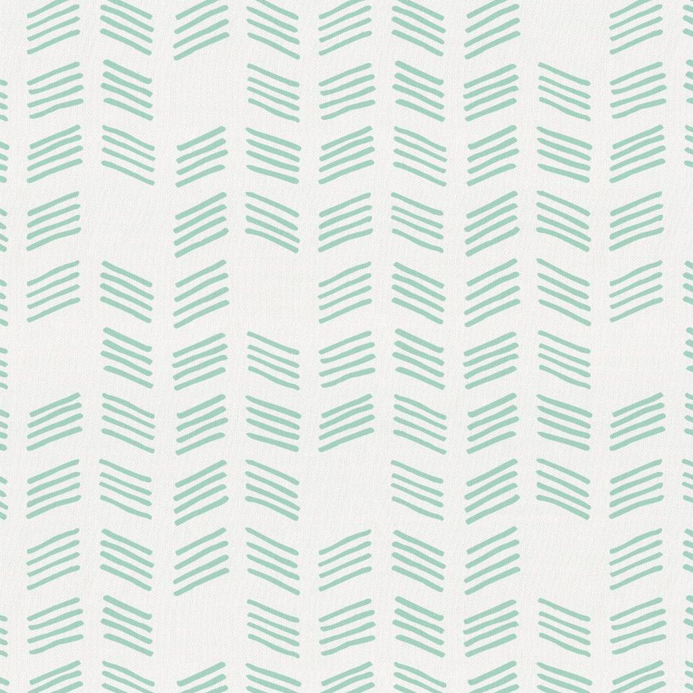 Product image for Mint Tribal Herringbone Crib Skirt Single-Pleat