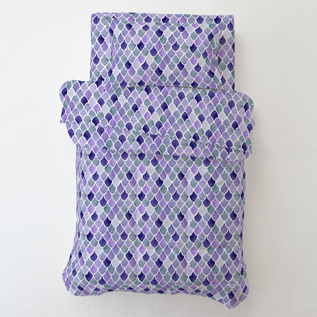 Product image for Lilac Watercolor Scales Toddler Pillow Case