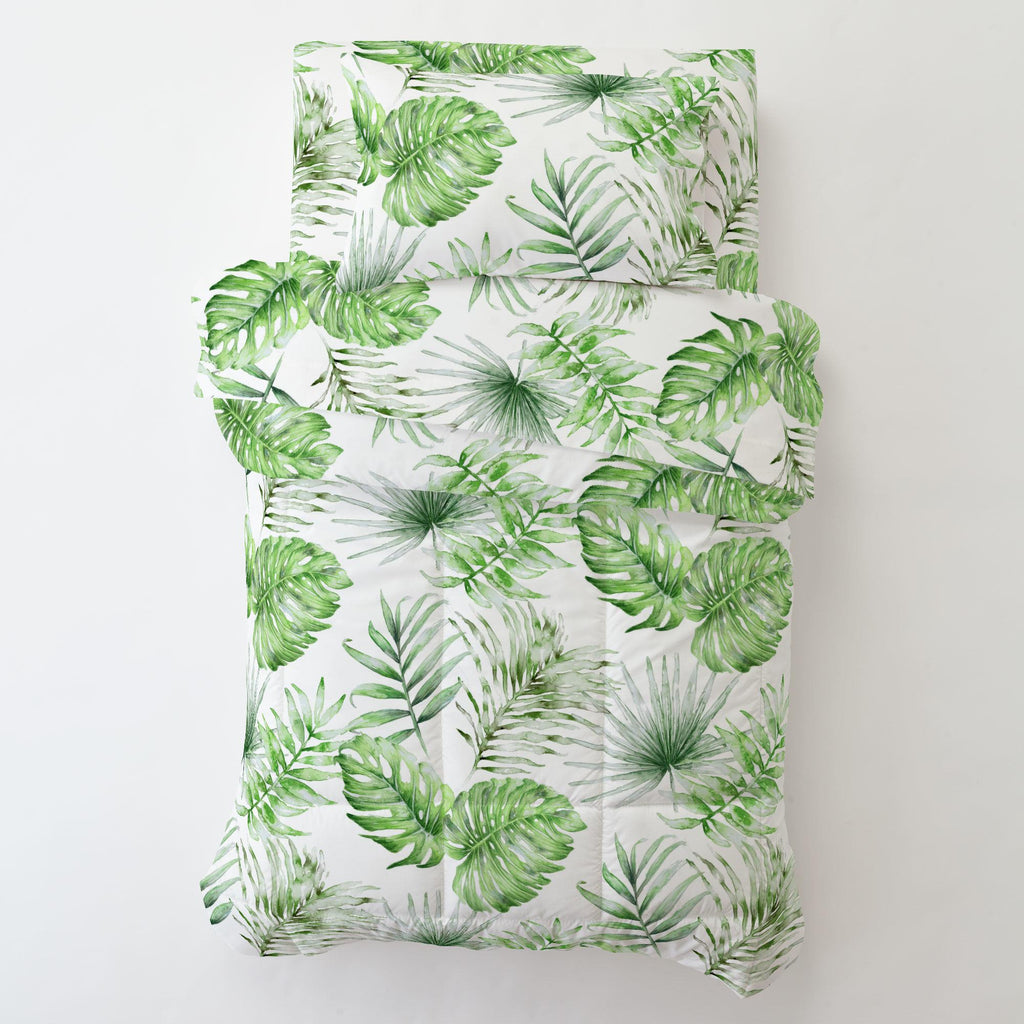 Product image for Green Painted Tropical Toddler Pillow Case