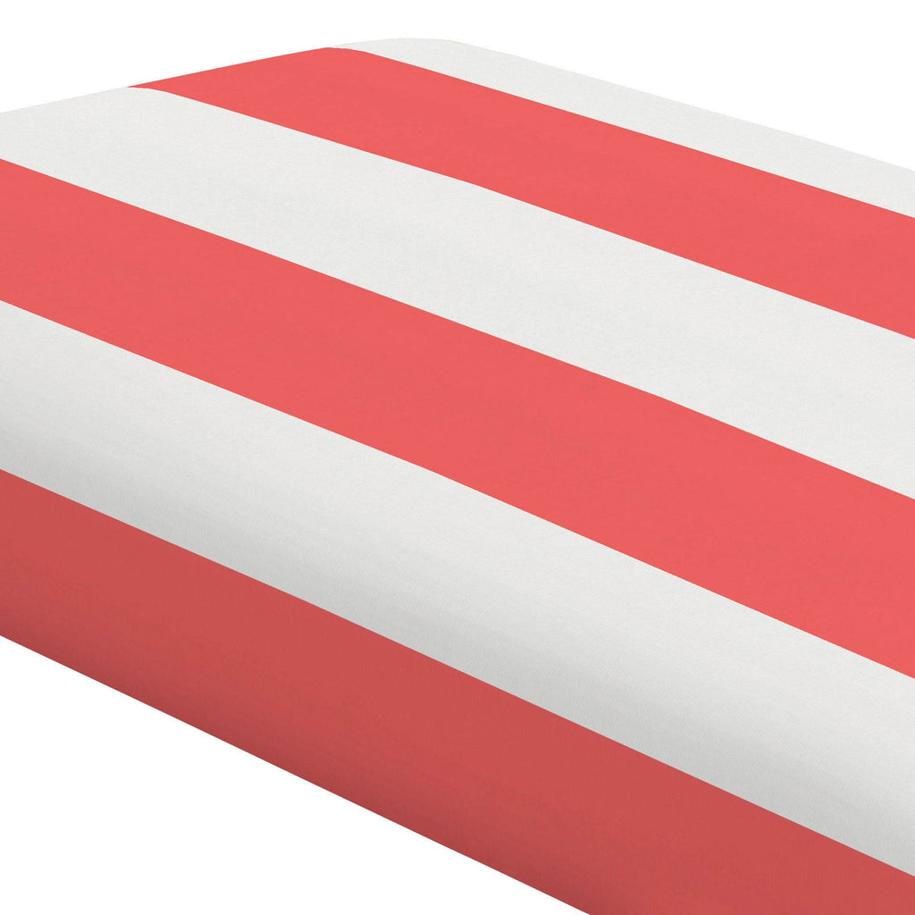 Product image for Coral Horizontal Stripe Crib Sheet
