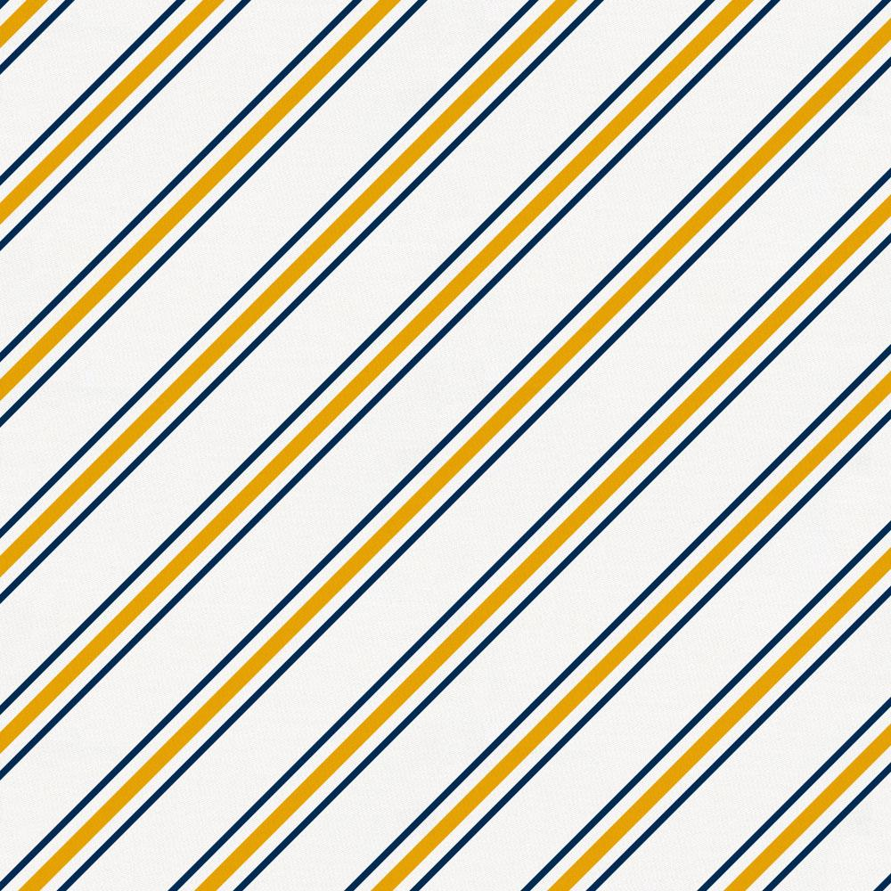 Product image for Navy and Yellow Necktie Stripe Crib Skirt Gathered
