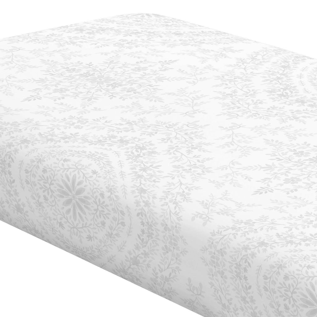 Product image for Gray Floral Damask Crib Sheet