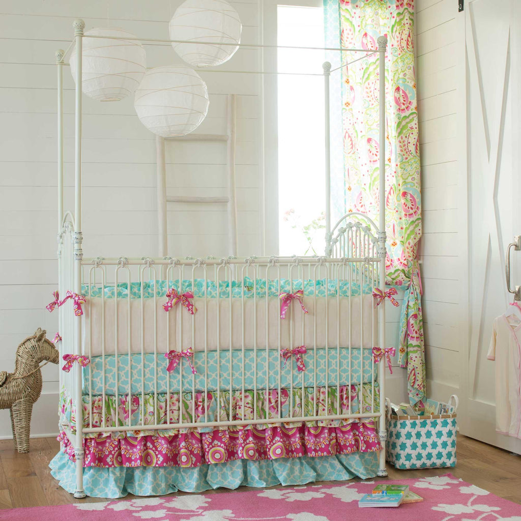Product image for Kumari Garden Crib Skirt 3-Tiered