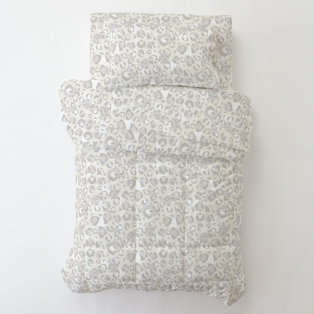Product image for French Gray Leopard Toddler Pillow Case