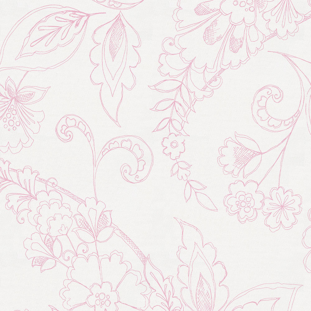 Product image for Bubblegum Sketchbook Floral Crib Skirt Gathered