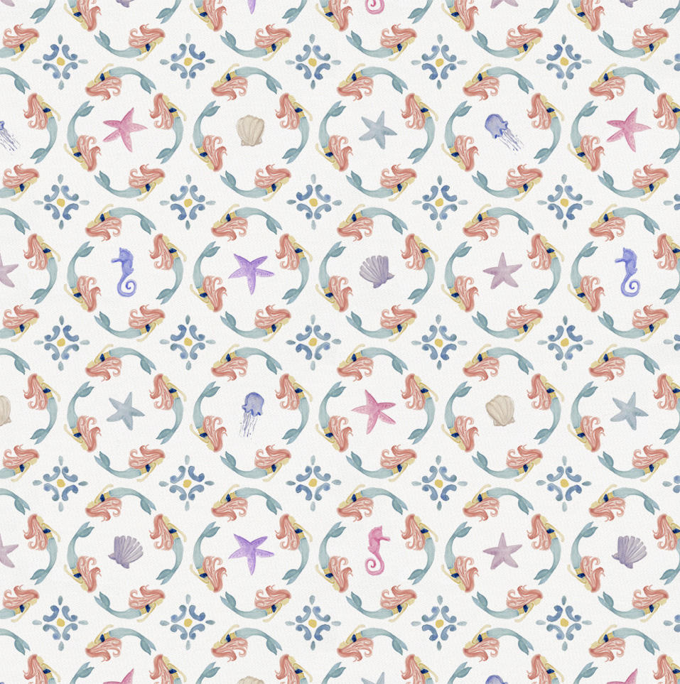 Product image for Mermaid Medallion Fabric