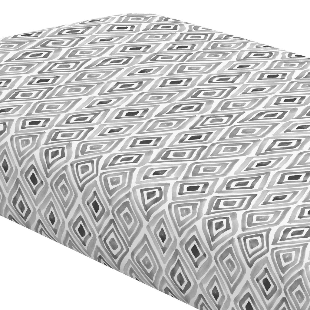 Product image for Gray Painted Diamond Crib Sheet
