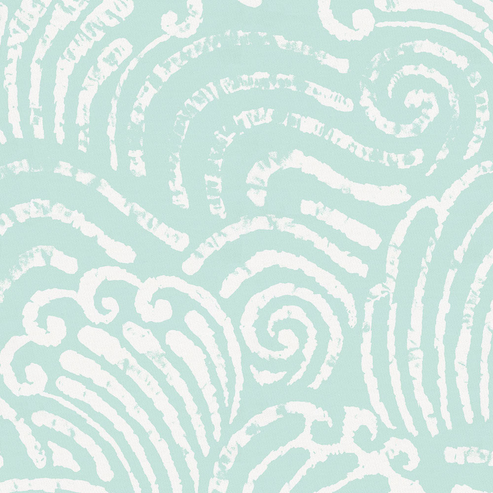 Product image for Icy Mint Seas Crib Skirt Single-Pleat