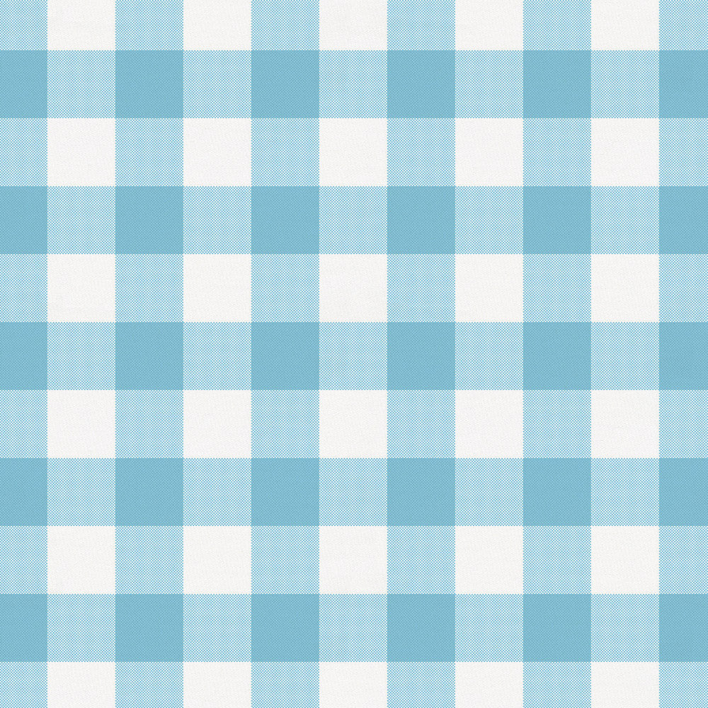 Product image for Lake Blue Gingham Mini Crib Sheet