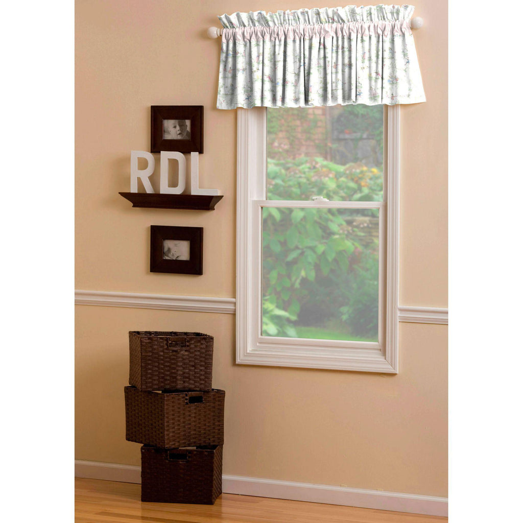 Product image for Pink and Nursery Rhyme Toile Window Valance