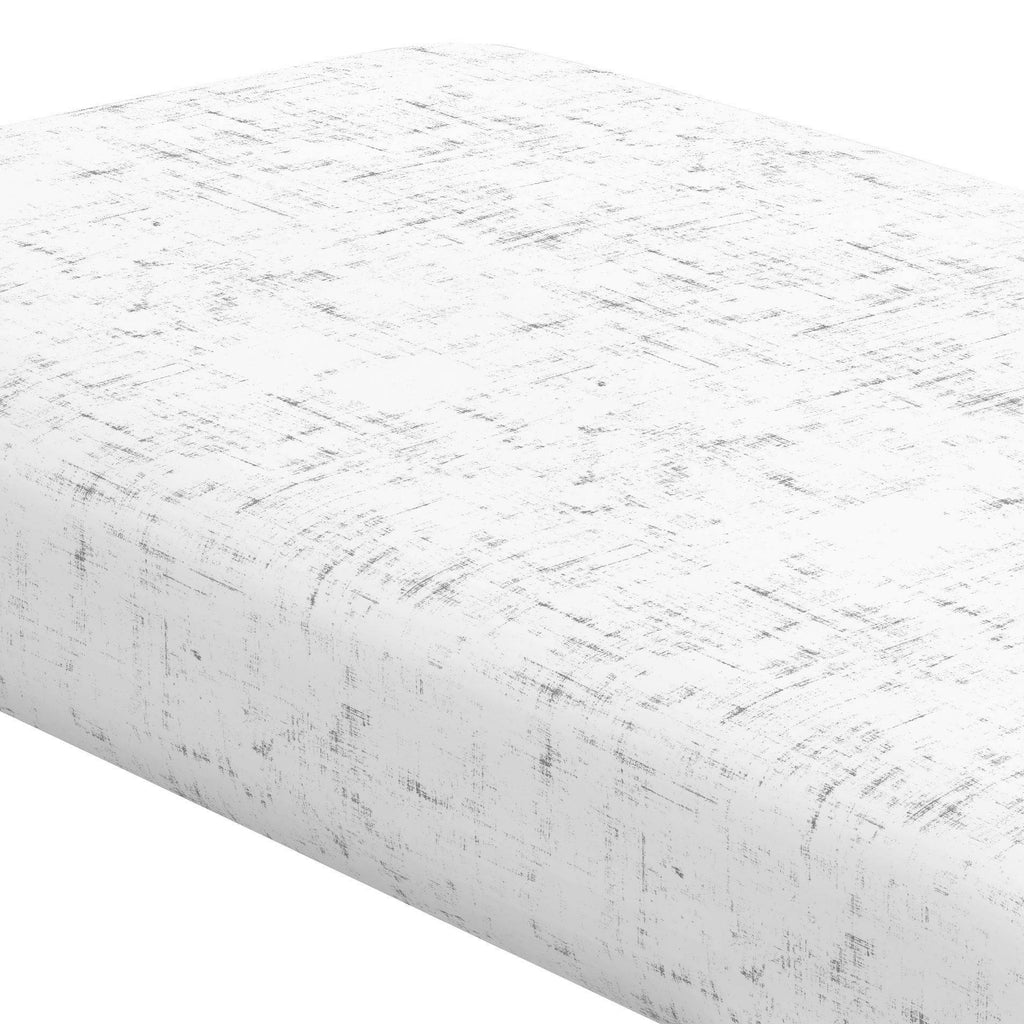 Product image for Cloud Gray Distressed Crib Sheet