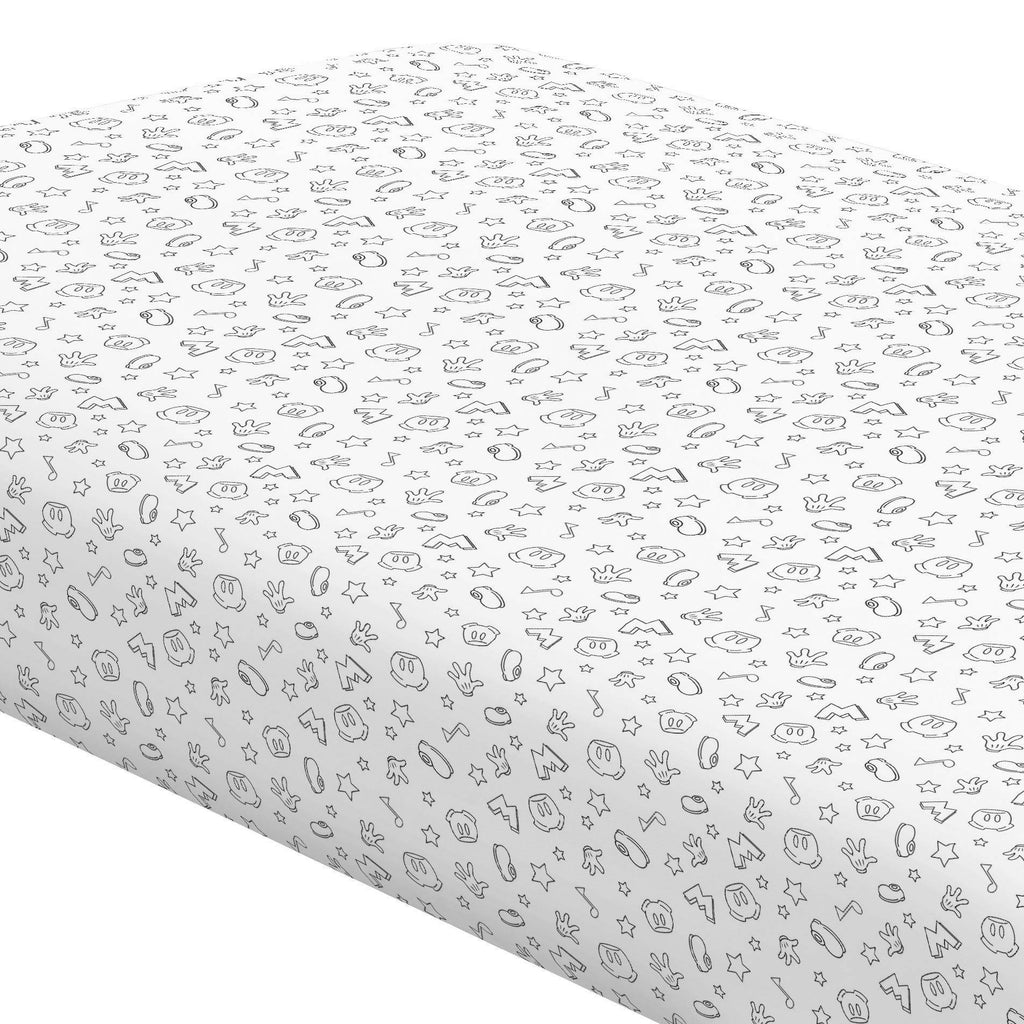 Product image for Disney© Onyx Mickey Icons Crib Sheet
