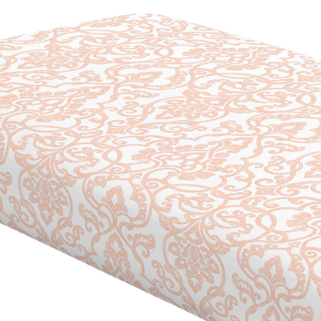 Product image for Peach Filigree Crib Sheet