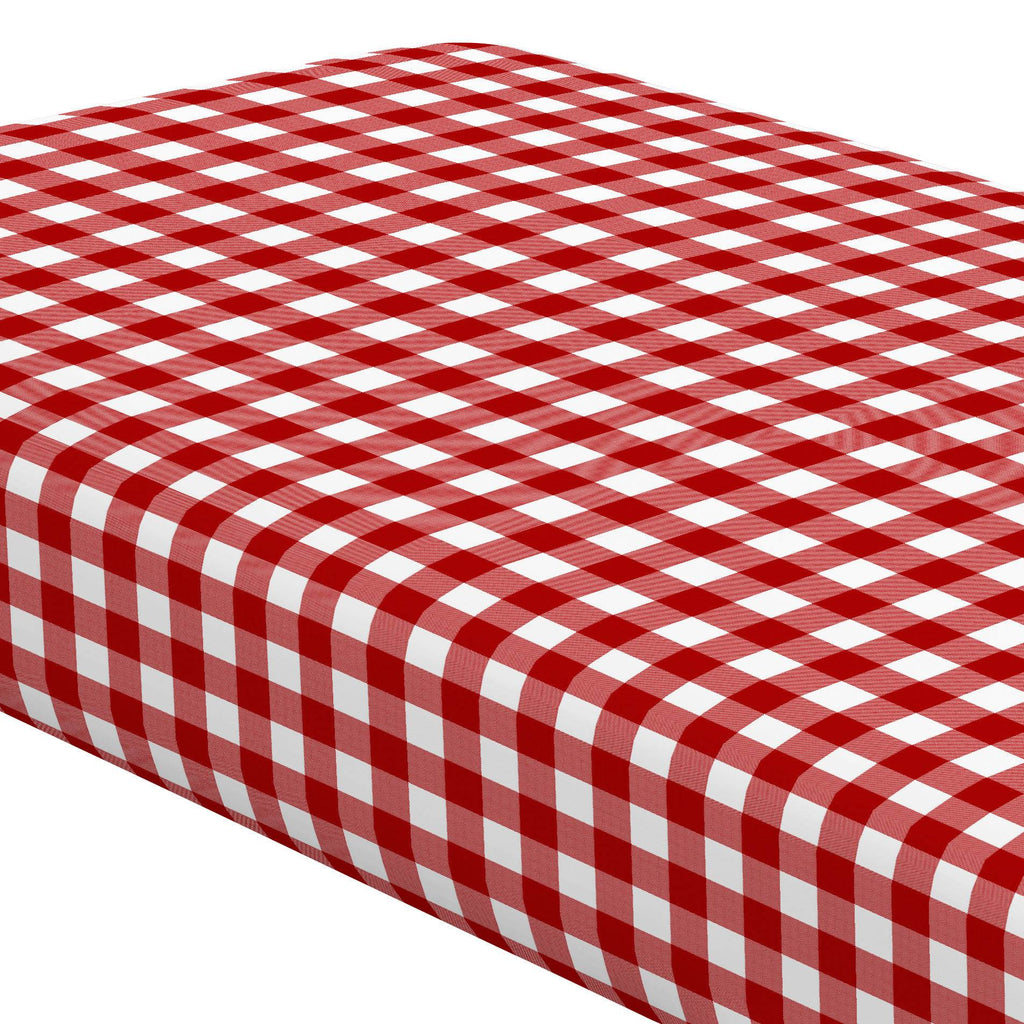Product image for Red Gingham Crib Sheet