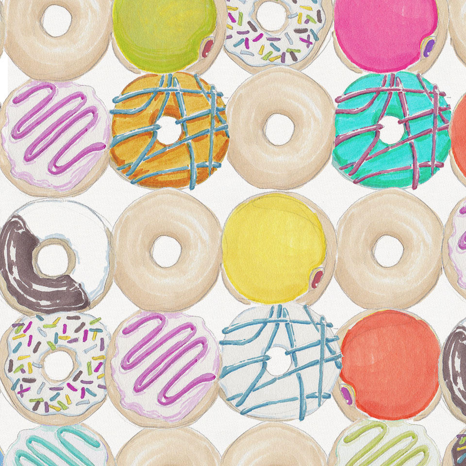 Product image for Donuts Crib Skirt Single-Pleat