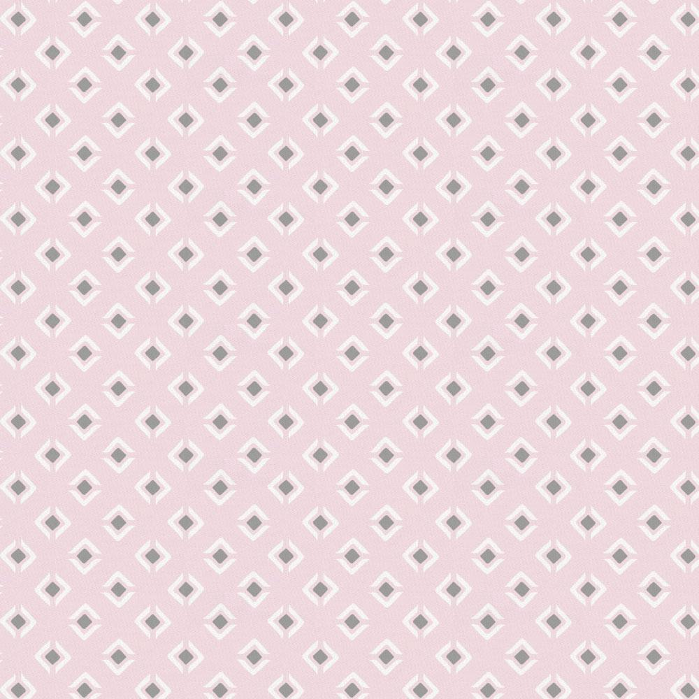 Product image for Pink and Gray Diamond Crib Skirt Single-Pleat