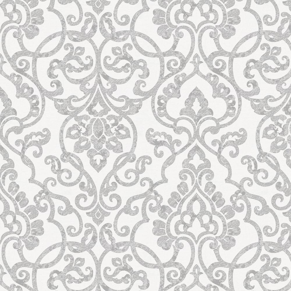 Product image for Gray Filigree Fabric