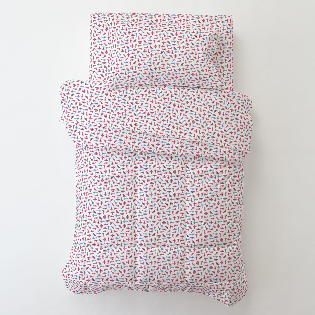 Product image for Tiny Airplanes Toddler Pillow Case