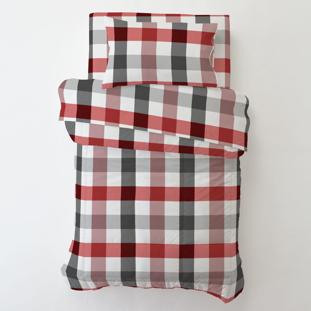 Product image for Red and Onyx Buffalo Check Toddler Sheet Bottom Fitted
