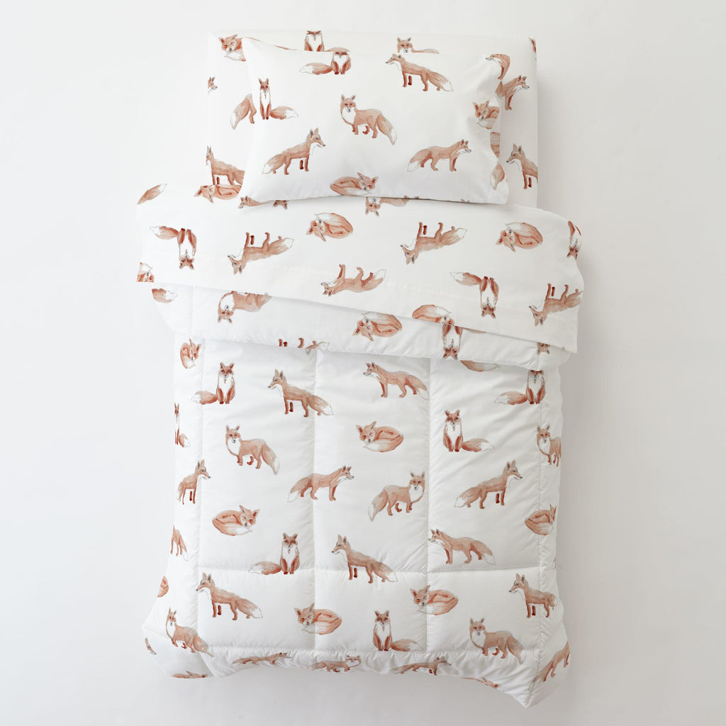 Product image for Watercolor Fox Toddler Pillow Case