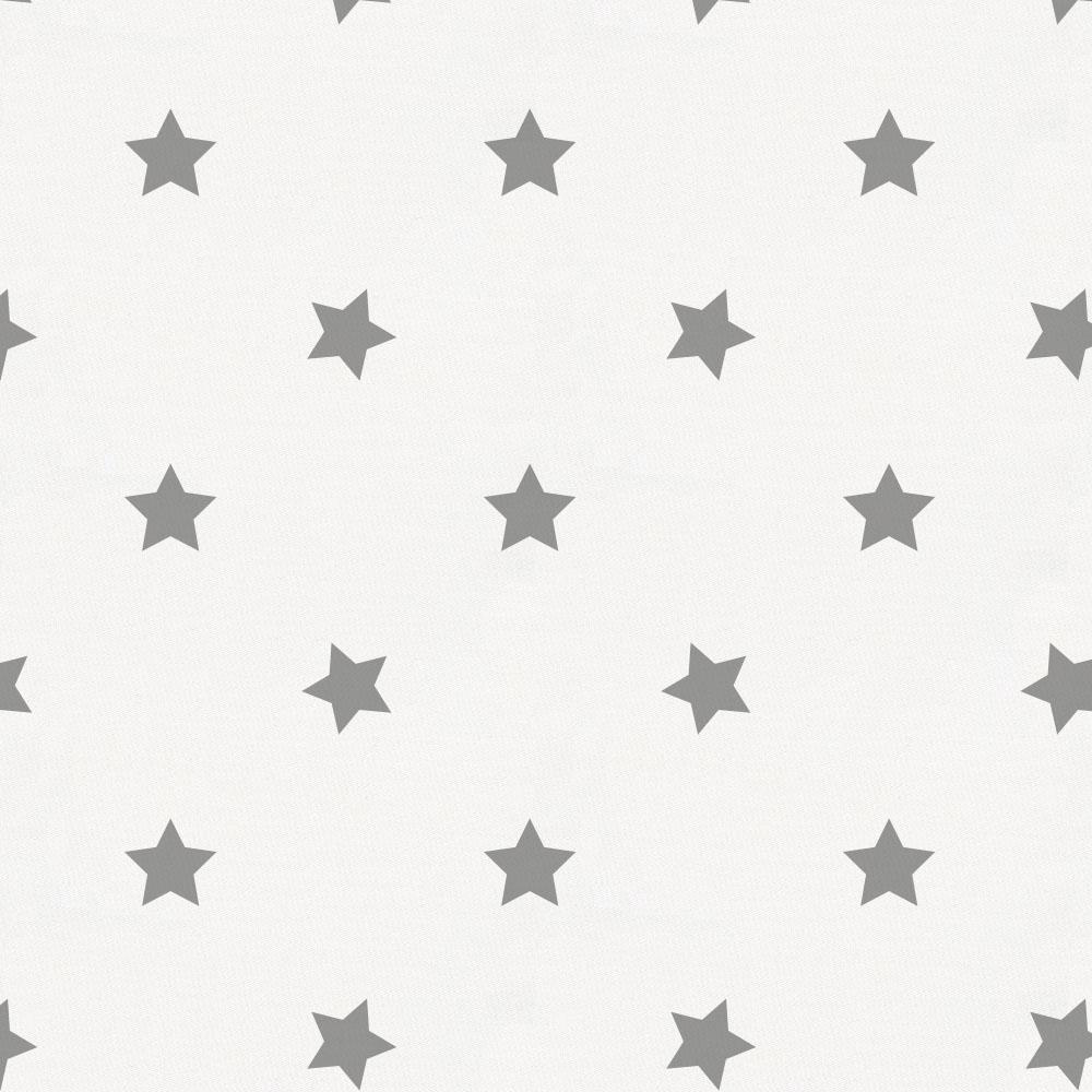 Product image for Cloud Gray Stars Crib Skirt Single-Pleat