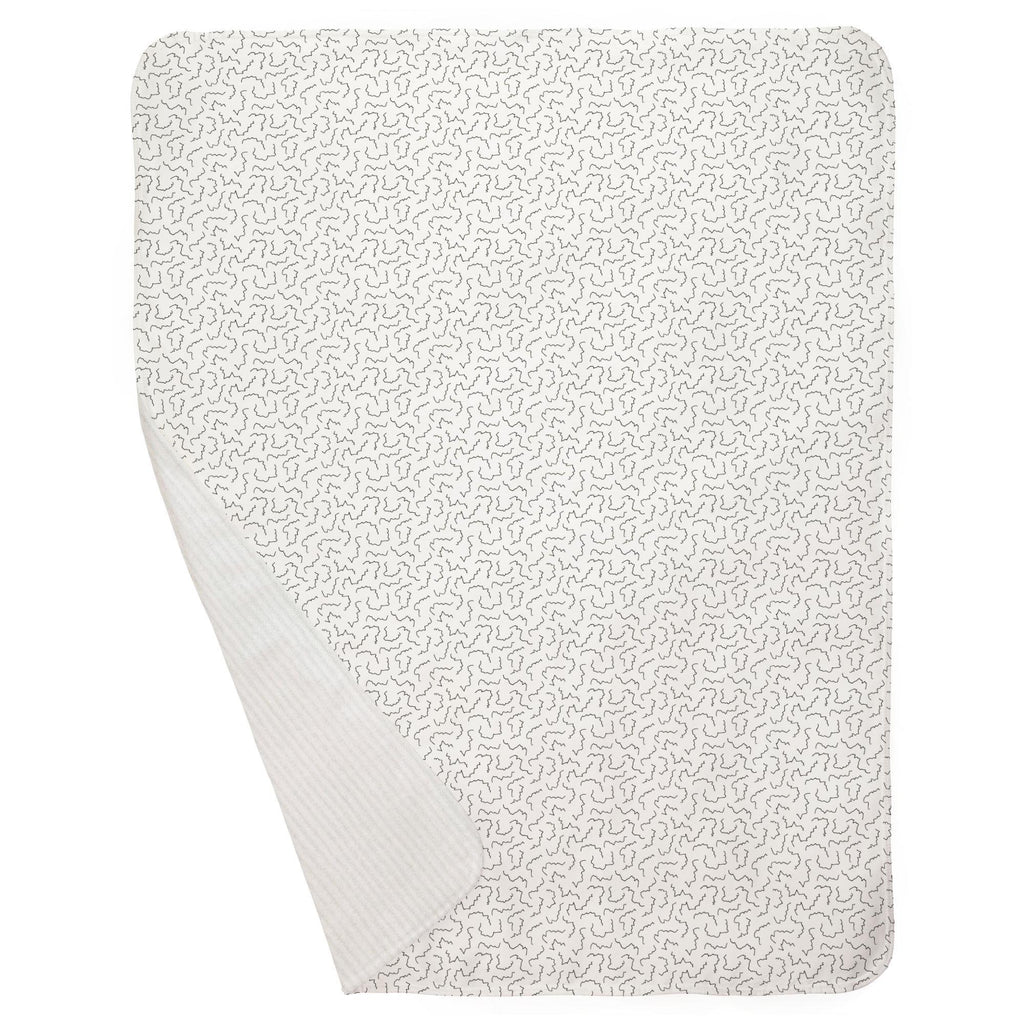 Product image for Slate Squiggles Baby Blanket