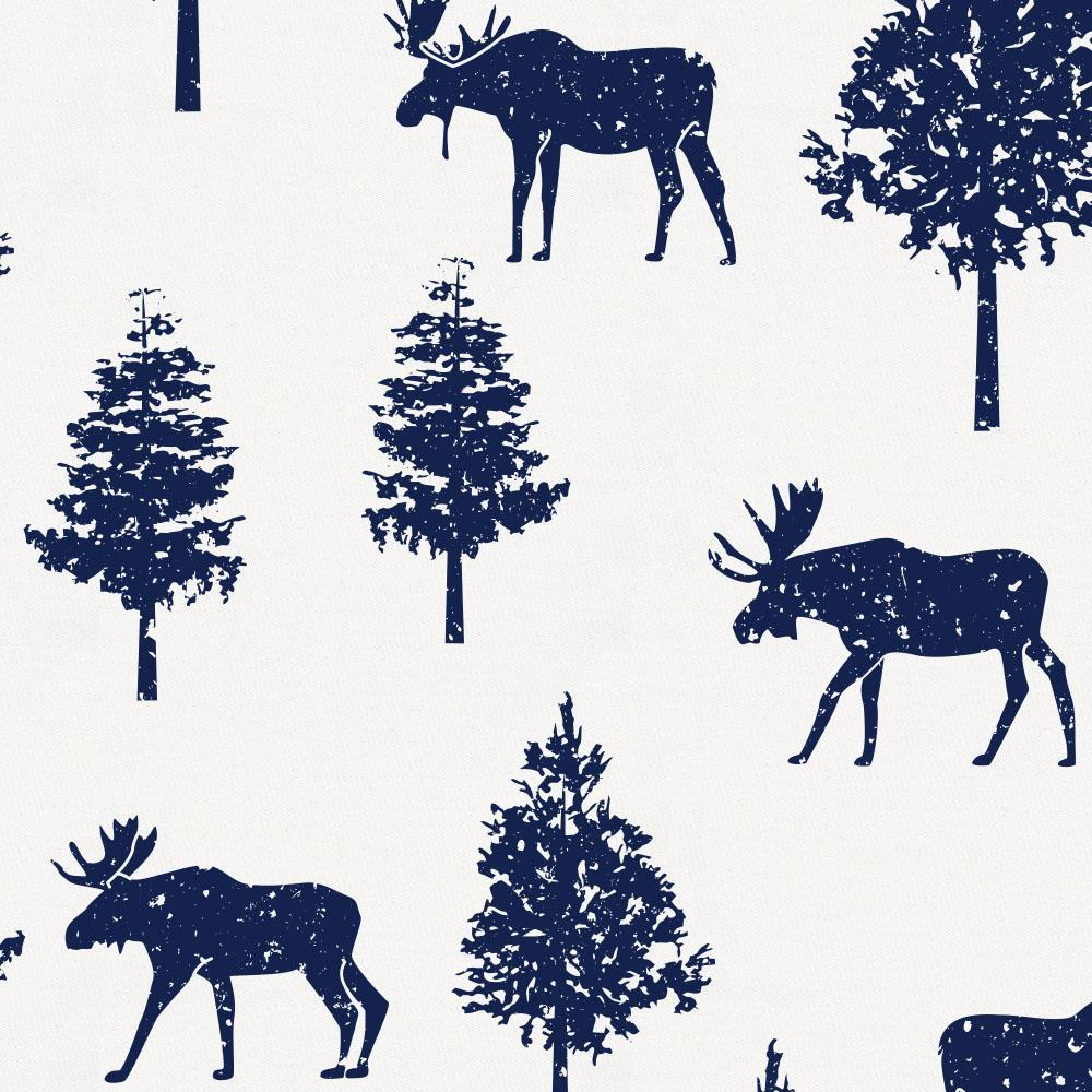 Product image for Navy Moose Changing Pad Cover