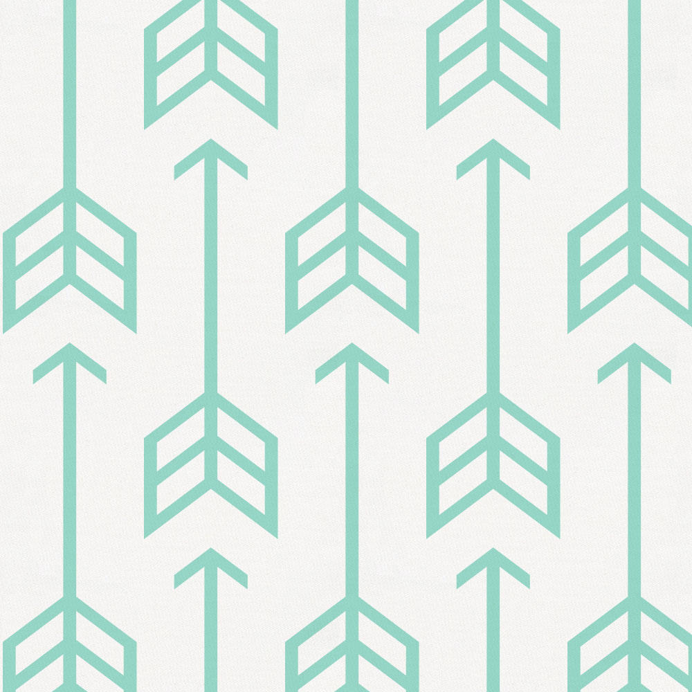Product image for Mint Arrow Crib Skirt Gathered