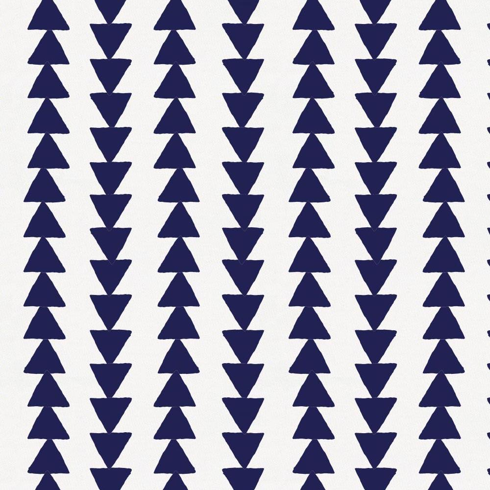 Product image for Windsor Navy Arrow Stripe Crib Skirt Single-Pleat