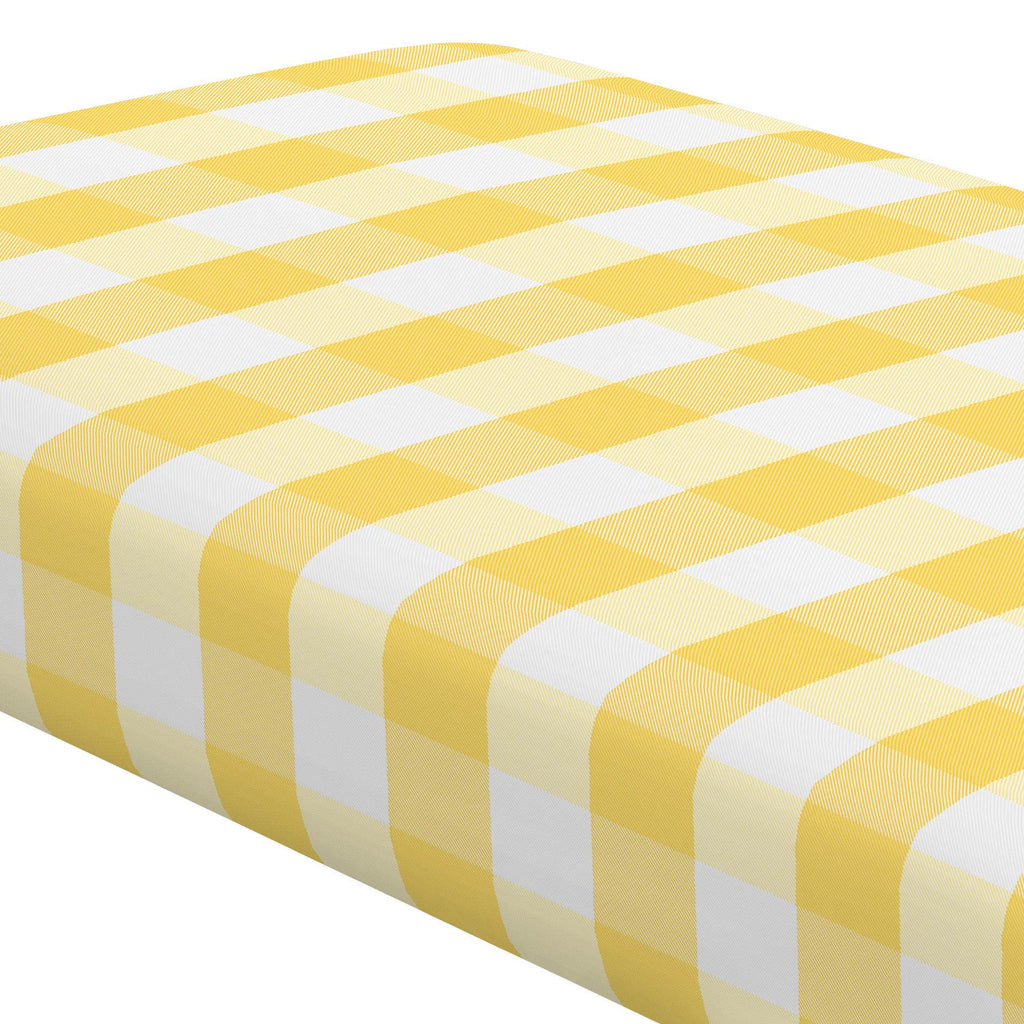 Product image for Saffron Buffalo Check Crib Sheet
