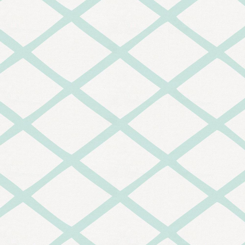 Product image for Icy Mint Trellis Crib Skirt Single-Pleat